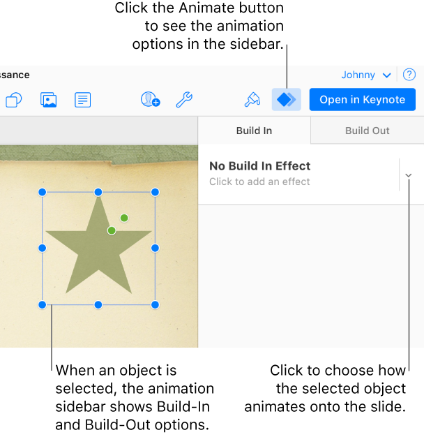 Keynote for icloud animate objects an object is selected on the canvas the animate button is selected in the toolbar ccuart Image collections