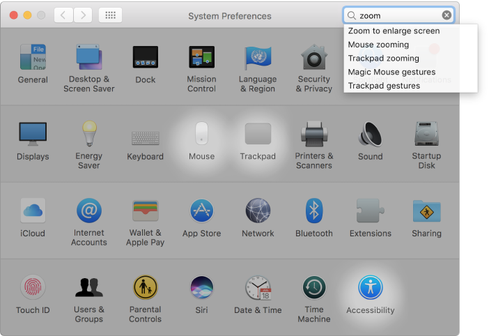 macOS Sierra: Change settings in System Preferences