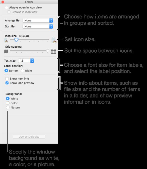 Macos Sierra Ways To View Items In Finder Windows