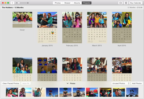 Iphoto create a calendar for Iphoto calendar templates