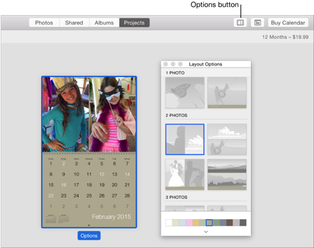 Iphoto arrange photos in a calendar for Iphoto calendar templates