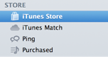 iTunes Store in the Store list