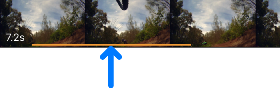 Image of an orange line at the bottom of a video clip