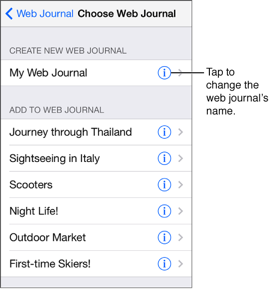 Enter a name and choose a theme for the journal
