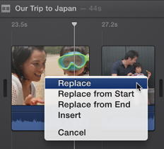 how to add multiple clips in imovie