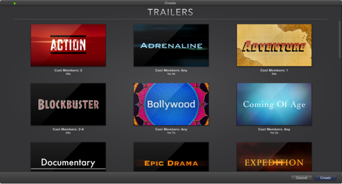 iMovie (2013): Create a trailer