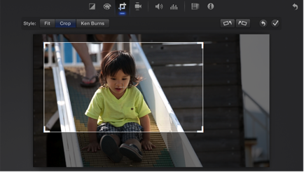 How to Crop a Clip/Photo in iMovie