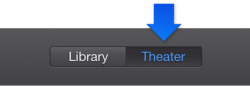Figure. Theater button in the toolbar.
