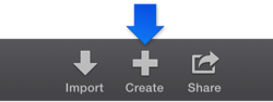Figure. Create button in the toolbar.