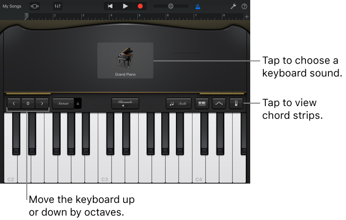 GarageBand for iOS (iPad): Play the Keyboard