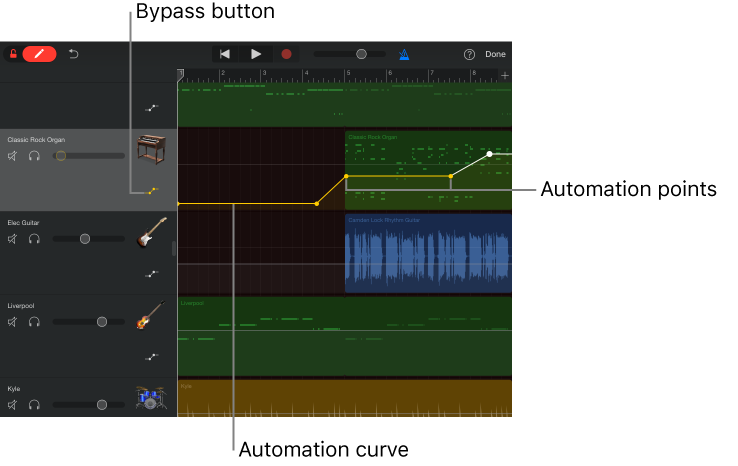 Garageband For Ios Ipad Automate Volume Changes