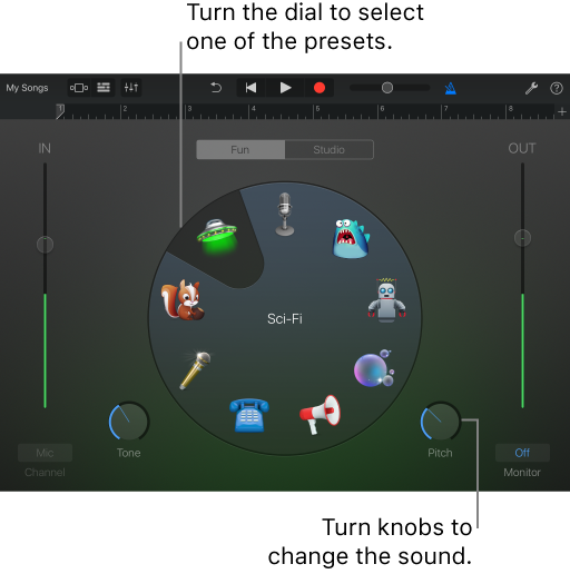 GarageBand for iOS (iPad): Record sounds with the Audio Recorder