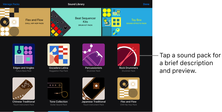 GarageBand for iOS (iPad): Download additional sounds and loops