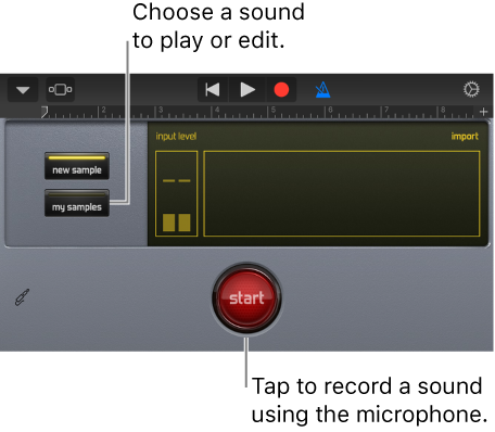 GarageBand for iOS (iPhone, iPod touch): Play sounds with