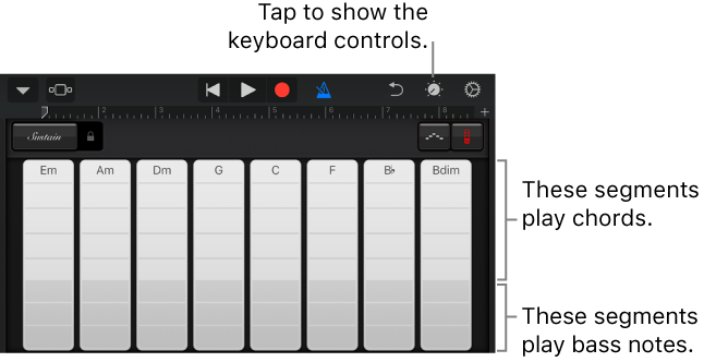 GarageBand for iOS (iPhone, iPod touch): Play the Keyboard