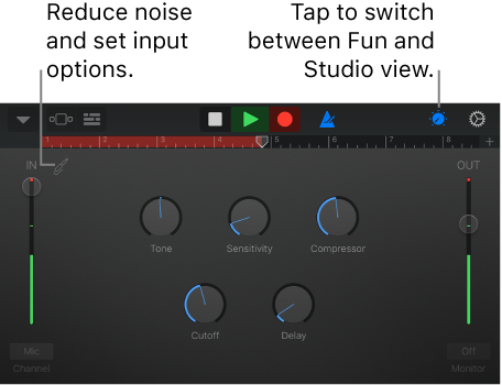 GarageBand for iOS (iPhone, iPod touch): Record sounds with
