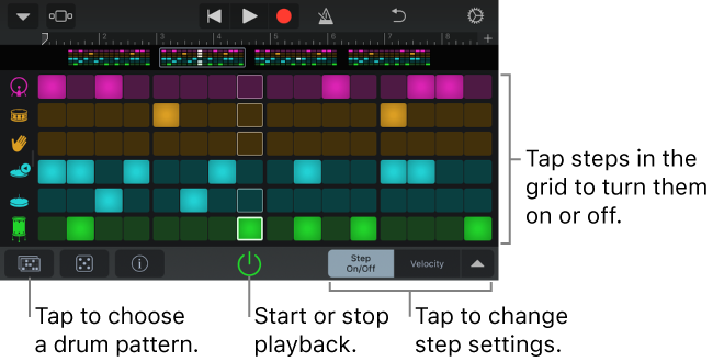 GarageBand For IOS IPhone IPod Touch Create Drum Patterns With Mesmerizing Drum Patterns