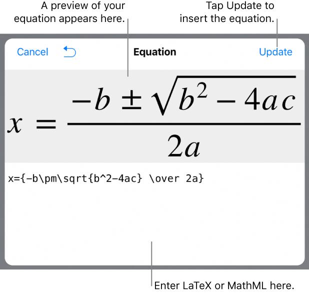 Keynote for iPad: Add mathematical equations in Keynote