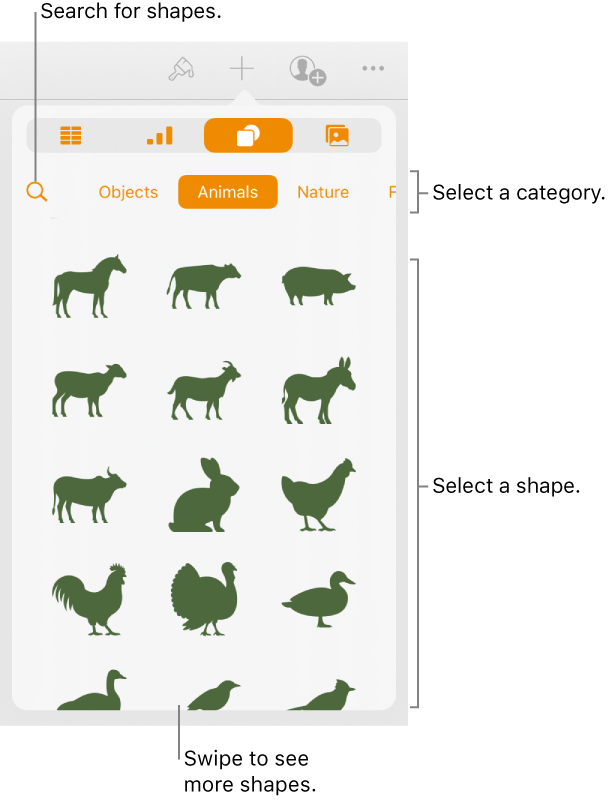 Pages for iPad: Add and edit a shape in a Pages document