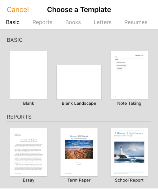 Pages For IPhone Create A Pages Document - Create document template
