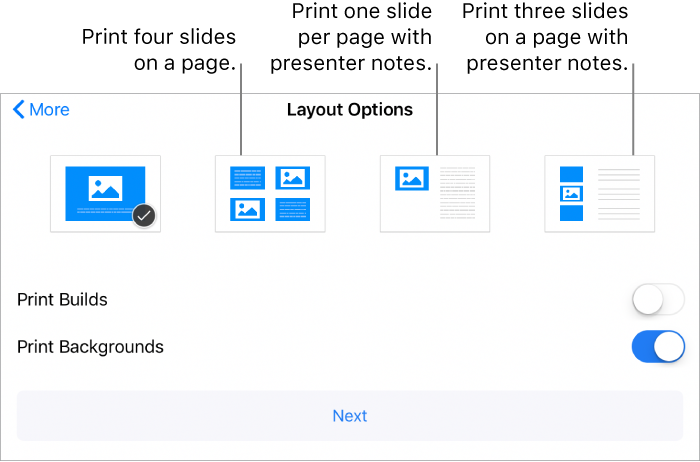 Keynote For IPhone Print A Presentation
