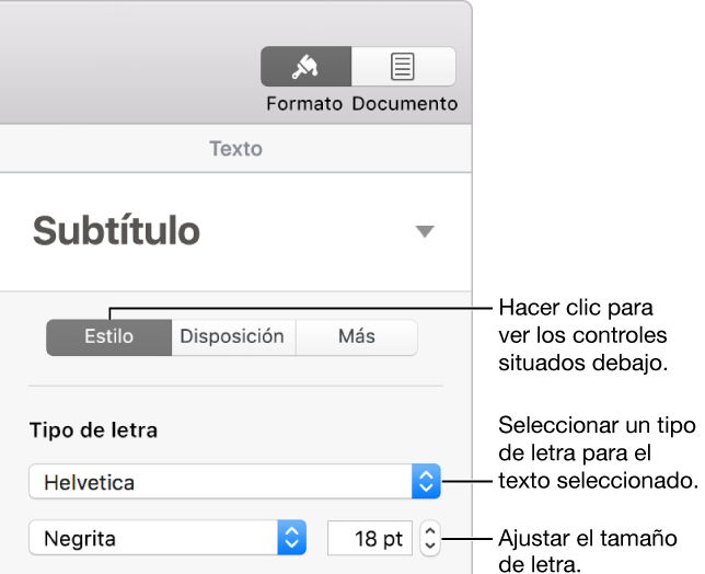Pages Para Mac Cambiar El Tipo De Letra O El Tamaño De