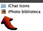 Imagen de un icono de fototeca y de un archivo en el Finder