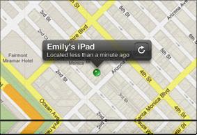 Imagen del botón Actualizar en la barra de herramientas de Buscar mi iPhone