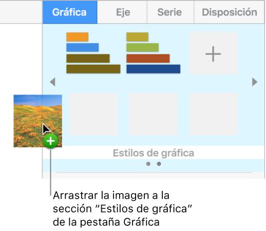 keynote para mac crear y organizar estilos de gráfica en una