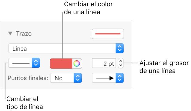 Pages para Mac: Añadir líneas y flechas en un documento de Pages