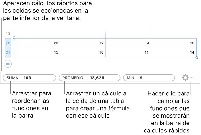 f91f11090 Numbers para Mac  Calcular valores usando los datos de las celdas de ...
