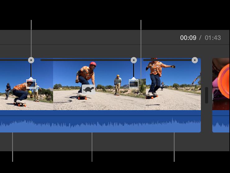 iMovie para Mac: Reducir y aumentar la velocidad de los clips