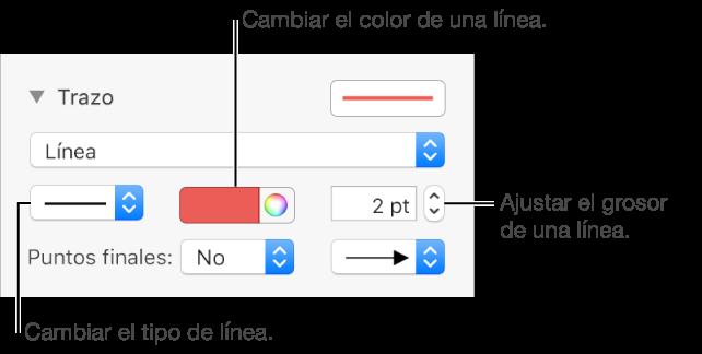Keynote para Mac: Añadir líneas y flechas en una presentación de Keynote