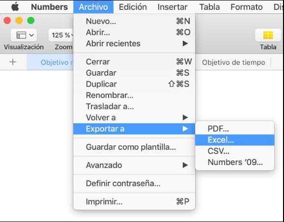 hoja de calculo mac numbers