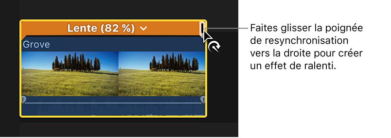 comment modifier la durée sur final cut pro x