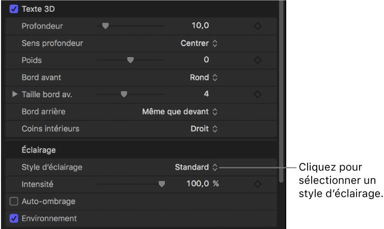 Motion r gler l clairage du texte 3d for Reduire fenetre mac