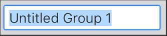 Champ de texte Création d'un groupe