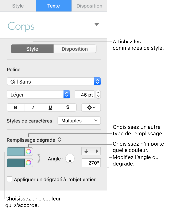 793617a6d8e11 Commandes permettant de choisir des couleurs prédéfinies ou une tout autre  couleur.
