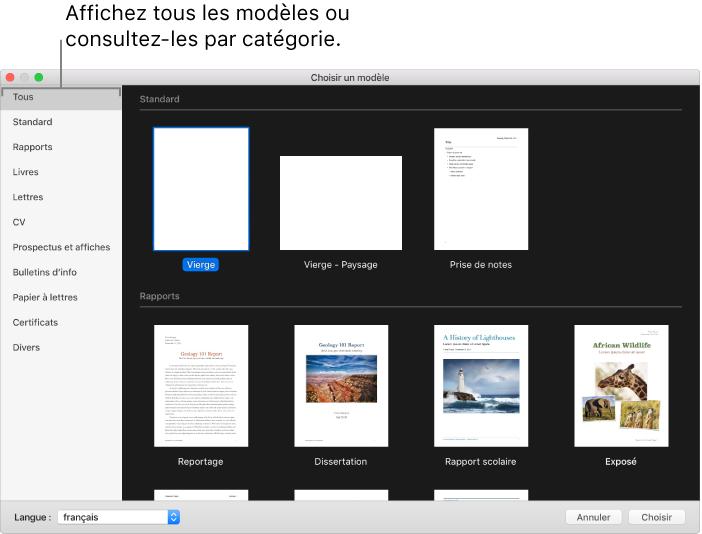 Pages Pour Mac Creer Un Document Pages