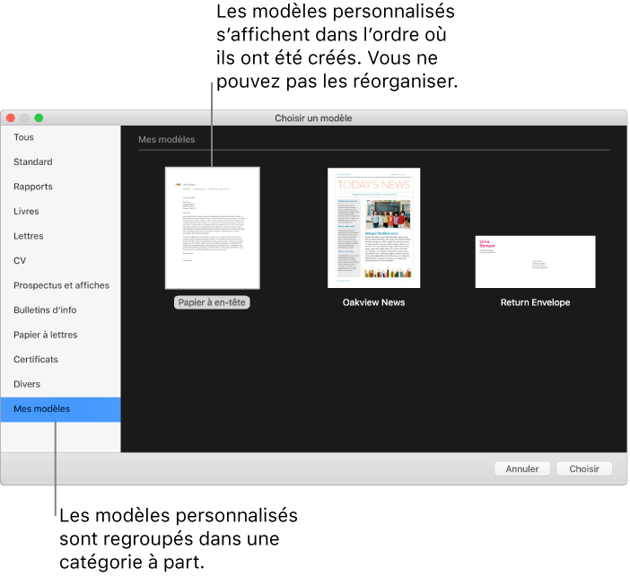 modele facture pages mac