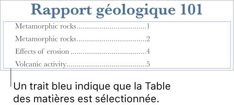 Pages Pour Mac Créer Une Table Des Matières Dans Un