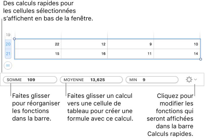 Numbers Pour Mac Calculer Des Valeurs A L Aide Des Donnees Des