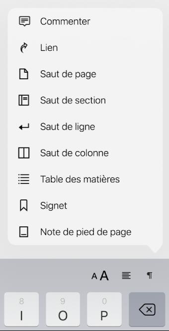 Pages For Ipad Ajouter Des Sauts De Ligne De Page Et De Colonne