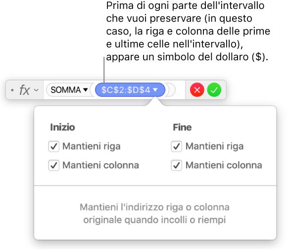 Prodotto Riga Per Colonna.Keynote Per Mac Calcolare Valori In Keynote Utilizzando I