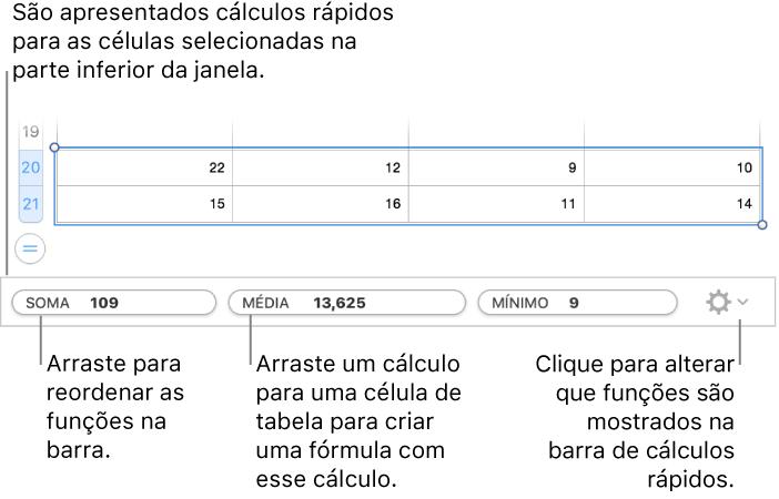 5645de7577b30 Arraste para reordenar as funções, arraste um cálculo para uma célula de  tabela para adicioná