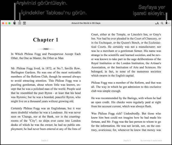 iBooks for Mac: Kitapları okuma