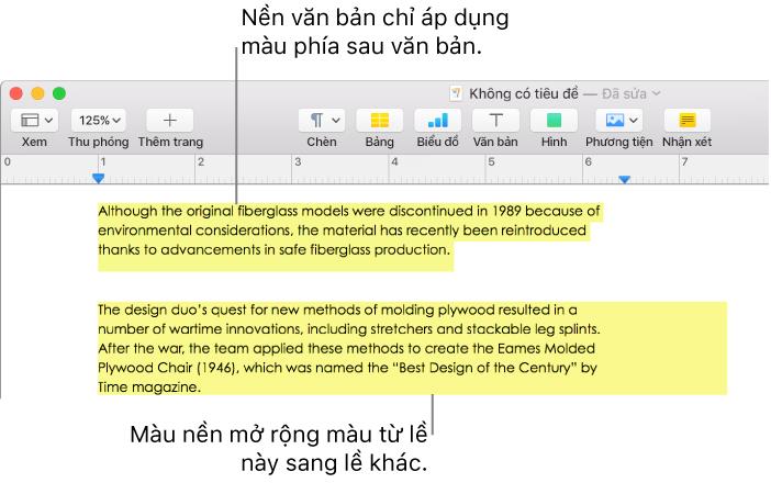 Pages Dành Cho Mac Thêm Hiệu ứng Tô Sáng Vào Văn Bản Trong