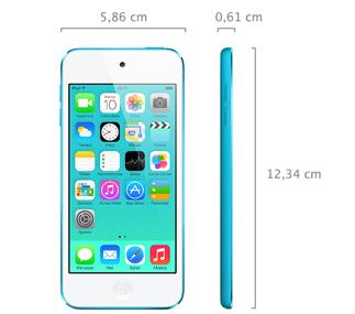 iPod touch (5ª generación) - Especificaciones técnicas