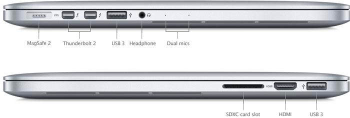 SP691 ports hero - MacBook Pro 13 Inch A1502 2.4GHz Intel Core i5 - 4GB RAM - 128GB SSD