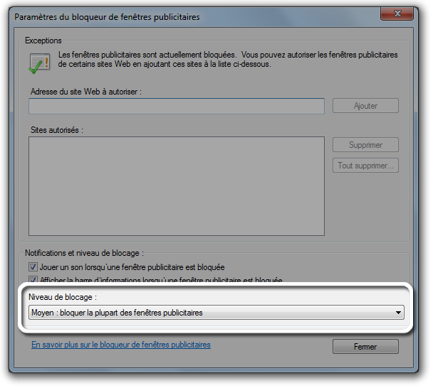 Itunes t l chargement d itunes pour windows via internet for Blocage fenetre publicitaire
